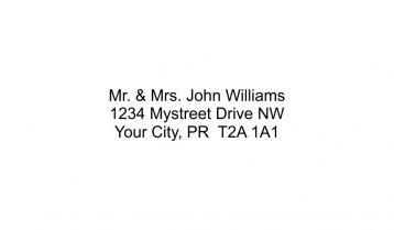 3 Line Return Address Stamp