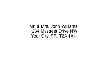 3 Line Return Address Stamp