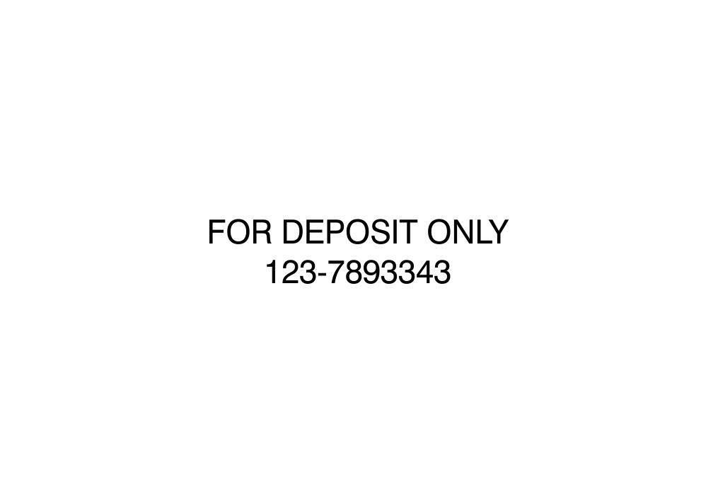 2 Line Bank Deposit Stamp