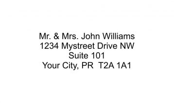 4 Line Return Address Stamp