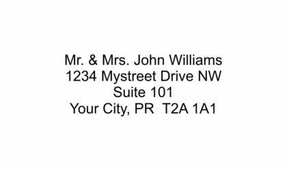 4 Line Return Address Stamp