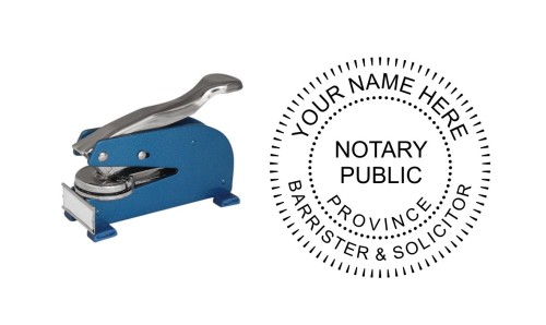 Notary Public Barrister Solicitor LR Desk Seal Province