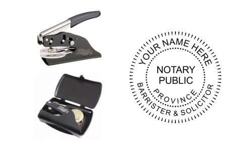 Notary Public Barrister Solicitor Pocket Seal Province
