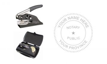 Notary Public Seal Pocket A