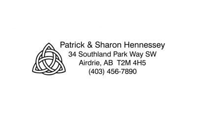 Celtic Knot Return Address Rubber Stamp