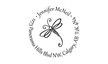 Dragonfly Return Address Rubber Stamp