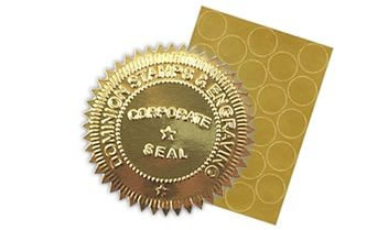 Foil Gold Seal Labels