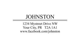 Last Name Return Address Rubber Stamp