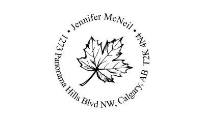 Maple Leaf Return Address Rubber Stamp