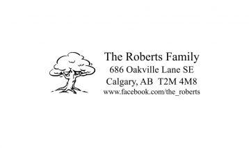 Oak Tree Return Address Rubber Stamp