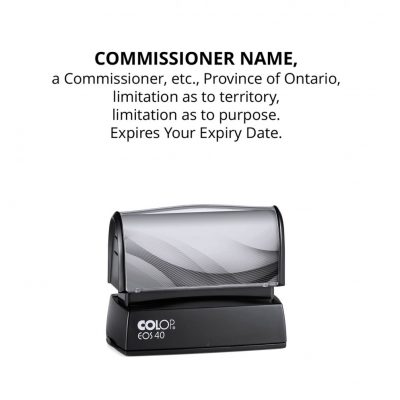 Ontario Commissioner for Affidavits Stamp (Custom)