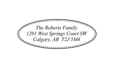 Oval Border Return Address Stamp