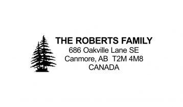 Pine Tree Return Address Rubber Stamp