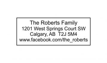 Rectangle Board Return Address Stamp