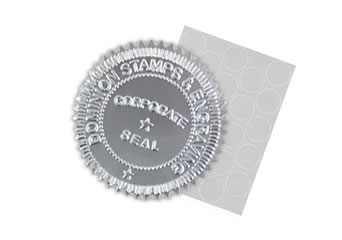 Silver Foil Seal Labels