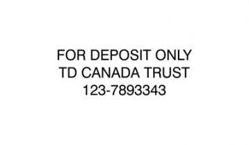 3 Line Bank Deposit Stamp