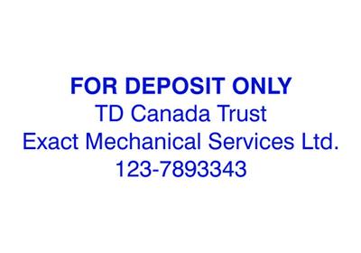 4 Line Bank Deposit Stamp