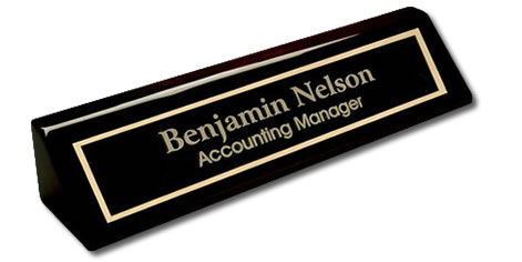 Laser Engraved Corporate Exective Desk Name Plates