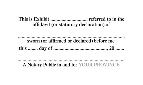 Notary Public Exhibit Stamp