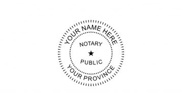 Notary Public Rubber Stamps