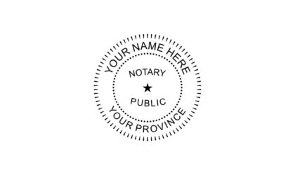Notary Public Rubber Stamp A