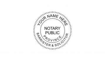 Notary Public Rubber Stamp Barrister