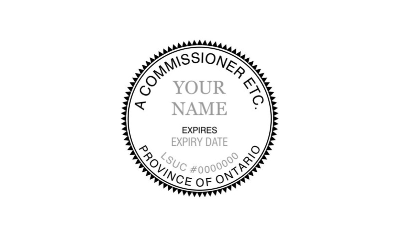 Ontario Commissioner for Oaths Stamp Round