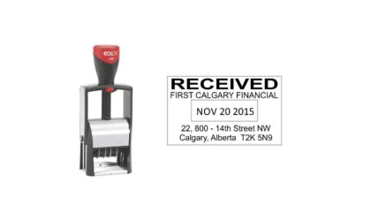 Colop 2360 Heavy Duty Self-Inking Date Stamp