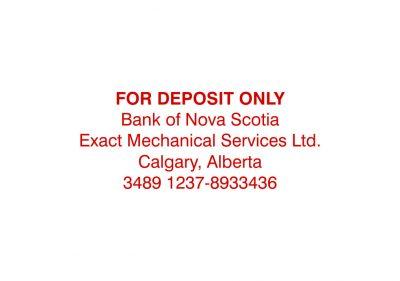 5 Line Bank Deposit Stamp