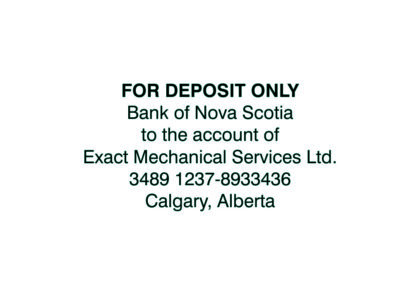 6 Line Bank Deposit Stamp