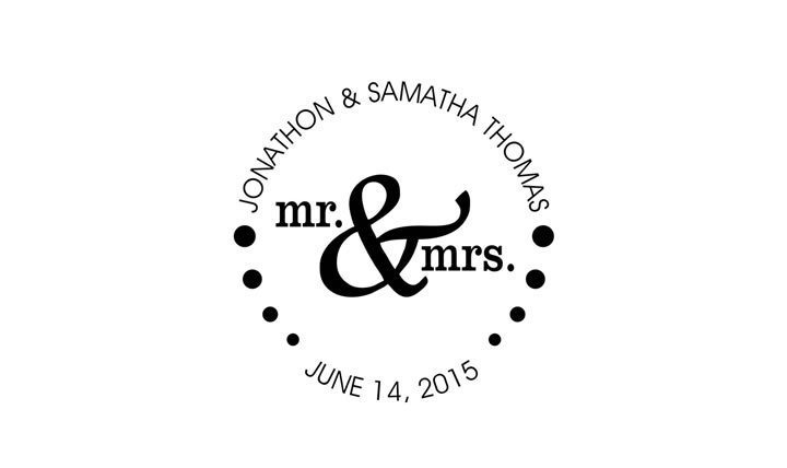 Mr Amp Mrs Wedding Stamp