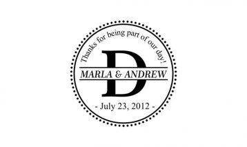 Monogram Wedding Stamp