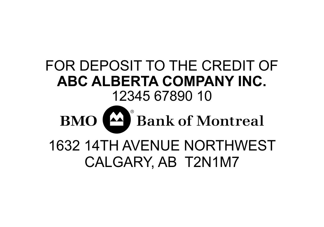 Bank Of Montreal Deposit Stamp