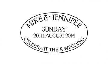 Celebrate Oval Wedding Stamp