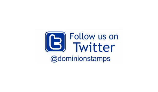 Follow Us On Twitter Stamp
