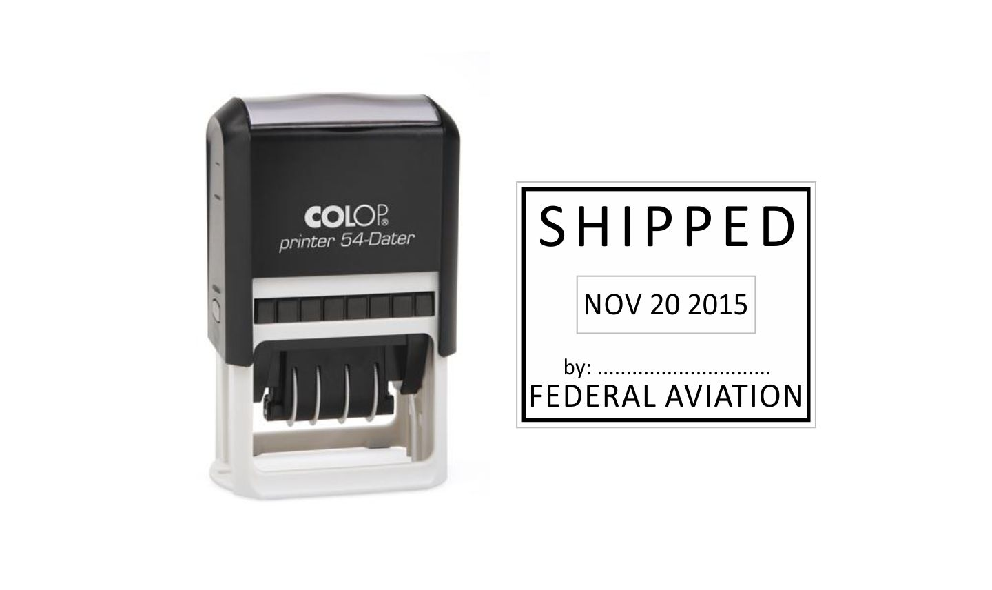 Colop Printer 54 Self Inking Date Stamp
