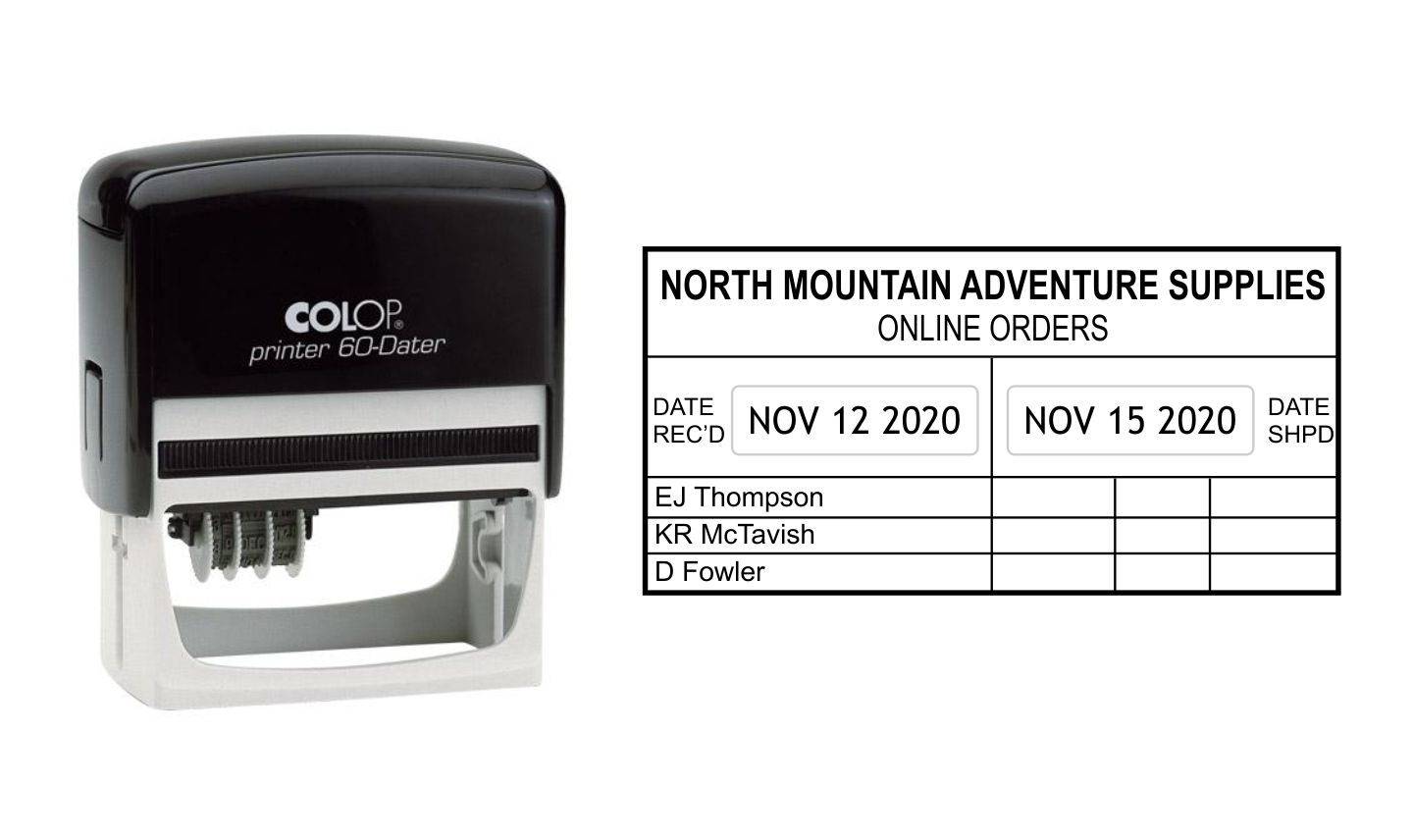 Colop Printer 60 Self Inking Date Stamp