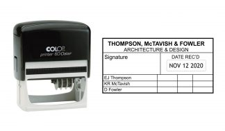 Colop Printer 60 (Right) Self-Inking Date Stamp