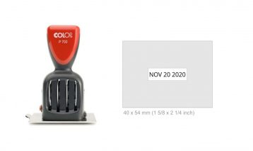 Colop P700/15 Die Plate Date Stamp