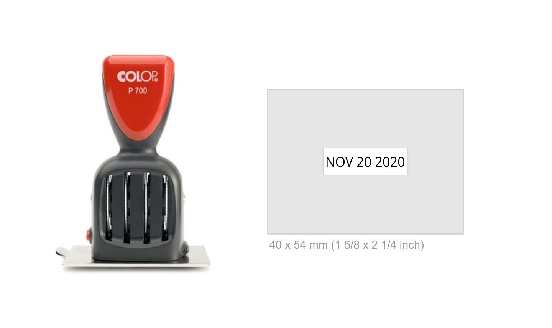 Colop P700 15 Die Plate Date Stamp