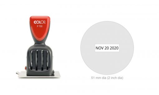 Colop P700/19 Die Plate Date Stamp