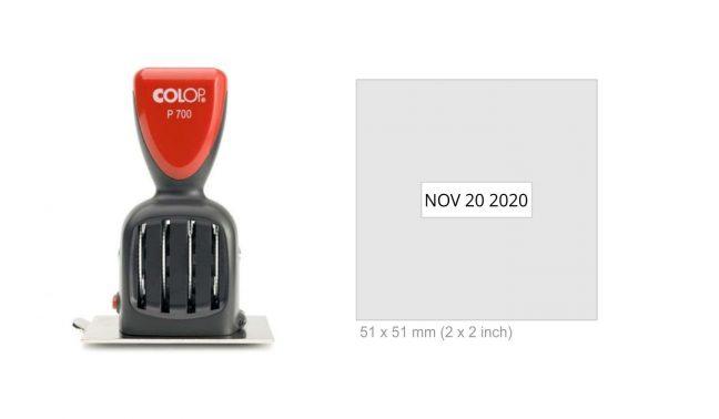 Colop P700/32 Die Plate Date Stamp