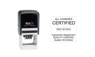 Colop Q43 Self-Inking Date Stamp