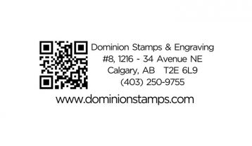 QR Code Address Stamp