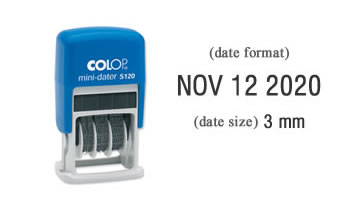 Colop S120 Self-Inking Date Stamp