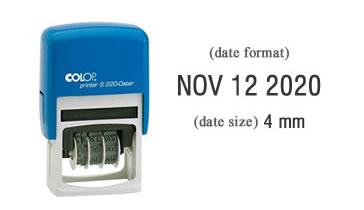 Colop S220 Self-Inking Date Stamp