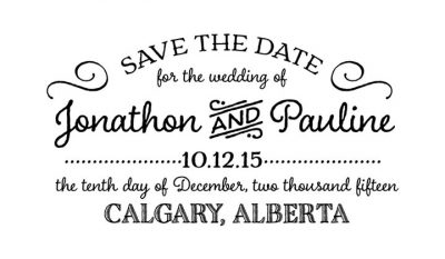 Save the Date Wedding Stamp