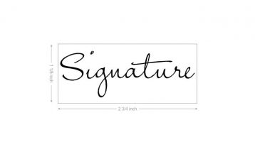 Custom Signature Stamp (large)