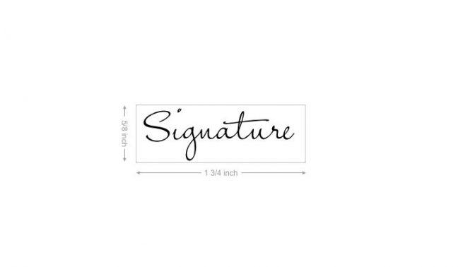 Custom Signature Rubber Stamp