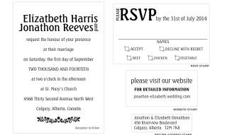 Traditional Wedding Invitation Stamp Set
